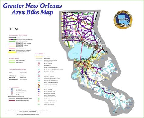 new orleans usa map new orleans area bike map
