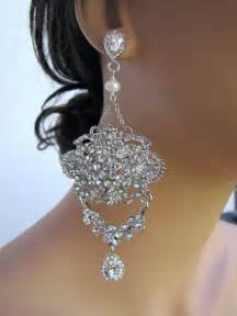 Large Chandelier Earrings Large And Dangle Statement Bridal Chandelier Earrings