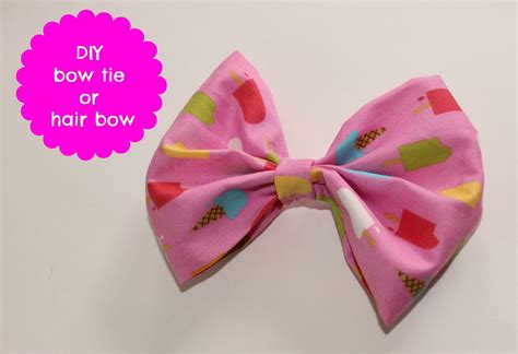 diy fabric bows with les deux diy hair bow or bow tie tutorial