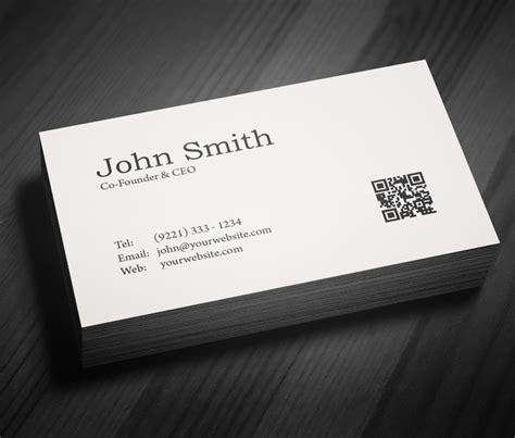 business card directory template free minimal business card psd template freebies
