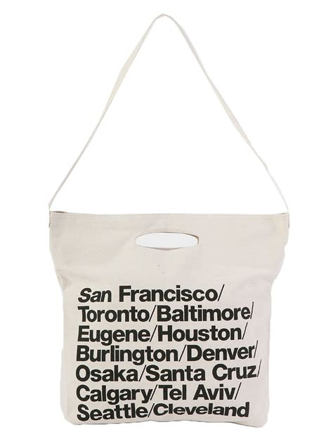 Tote Your To Town In My Bag by Bull Denim Woven Cotton Cities Bag With American