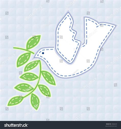 branch name pattern means vector embroidery dove of peace with olive branch in