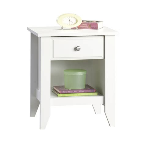 Inexpensive Nightstand cheap sauder white jamocha wood nightstand from lowes nightstands bedroom furniture