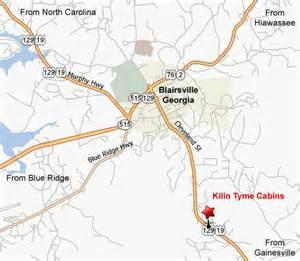 map of blairsville blairsville map map