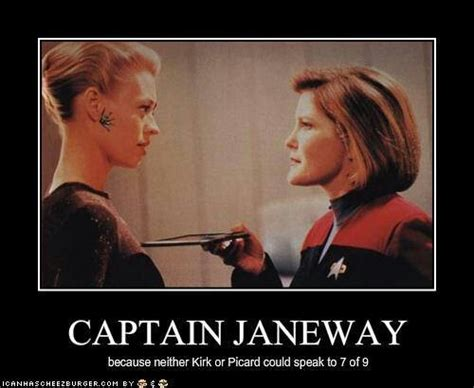 Star Trek Voyager Meme - captain janeway seven of nine and truth star trek