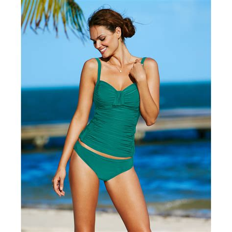 Kaos Band Indo Merpati All Color la blanca ruched tankini top in green lyst