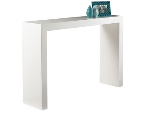 White Gloss Console Table Arch Console Table High Gloss White By Sunpan