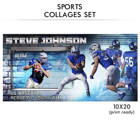 sports templates for photoshop steve sports collage photoshop template