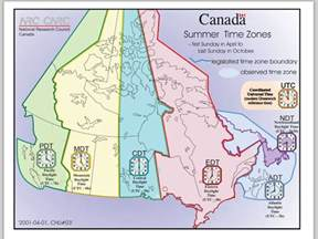 printable colour canada time zone map images