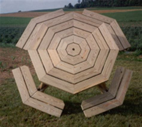 wood octagon picnic table   build  amazing diy