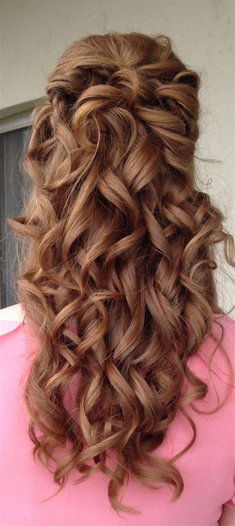 bridalshower bridal shower updo curls half up updo upstyle wedding hairstyle hair