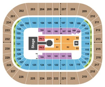bryce center detailed seating chart bryce center tickets and bryce center