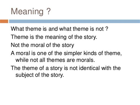 theme of literary work definition point of view and theme in literary work