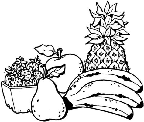 fruit coloring pages coloring town