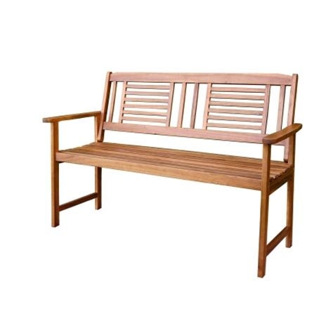 park bench hardware living accents wood garden bench 51 5 in w x 35 8 in h