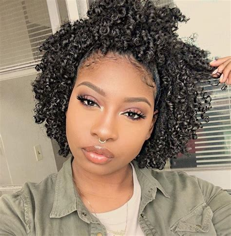 type of hair style tan skin short curly hairstyles for black women with natural hair