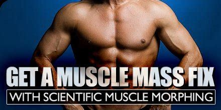 bodybuilding mass gain programs articles get a muscle mass fix with scientific muscle morphing