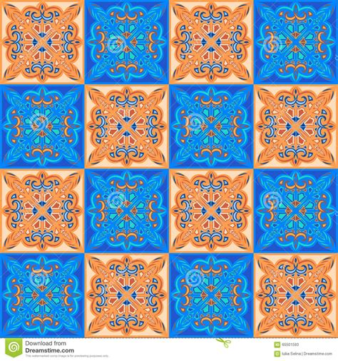 color pattern in spanish seamless pattern tiles stock vector image 65501593