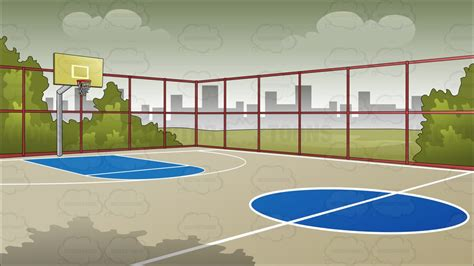 basketball court clipart outdoor basketball court background clipart
