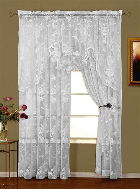 white lace curtain abbey rose lace curtains white lorraine view all