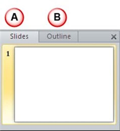 Powerpoint Outline Tab by Slides And Outline Pane In Powerpoint 2010 For Windows