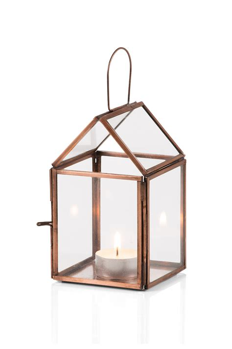 lantern house esprit house shaped lantern in glass metal at our online shop