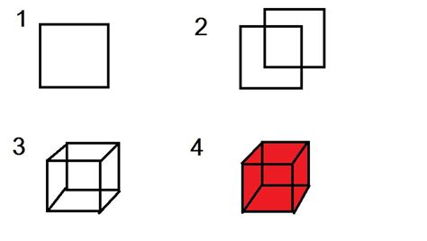 how to make a cube out of paper step by step images