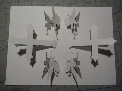 cross card template christian cross pop up card