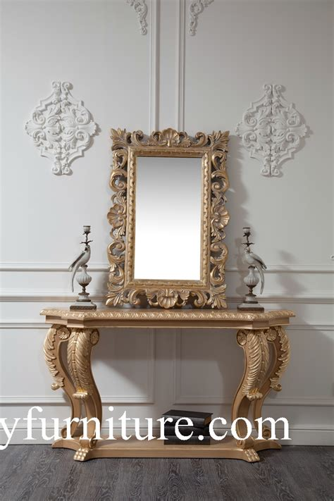 Mirror Table Decor by Wall Table Console Table With Mirror Table Decorations