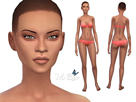 cc sims 4 female skin ms blue s female skin detail