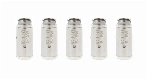 Eleaf Ic Atomizer Series Replacement For Icare Series 3 33 authentic eleaf icare icare mini replacement ic coil 5 pack 5 pack 1 1ohm 5 15w