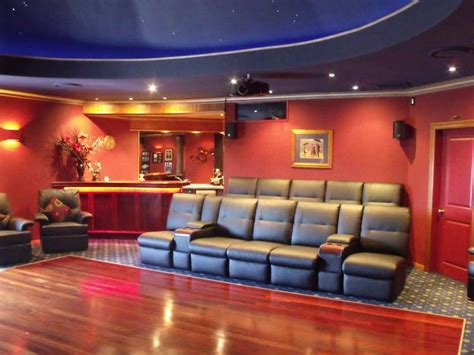 home theater interior designs decorating ideas 38 wonderful home movie room ideas with red walls appealing