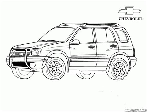 coloring page jeep chevrolet