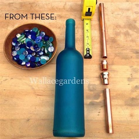 How To Turn A Wine Bottle Into A L by How To Turn A Wine Bottle Into A Self Watering Device