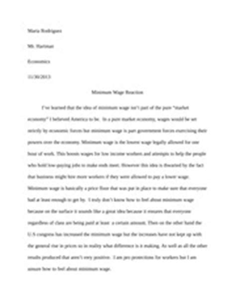 minimum wage research paper outline the economics of bugs essay rodriguez