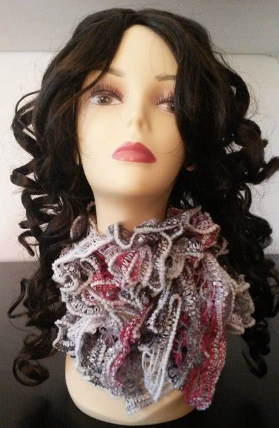sciarpa volant elegante sciarpa con volants donna abbigliamento di