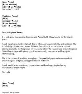Recommendation Letter Format In 5 Sles Of Reference Letter Format To Write Effective Letters
