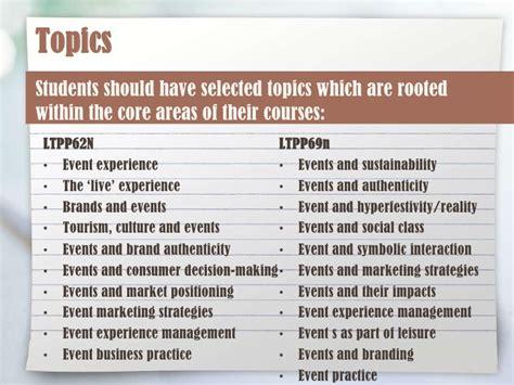 events management dissertation topics dissertation kick meeting