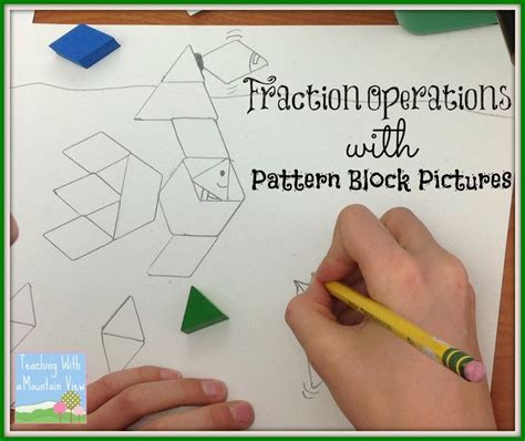 pattern block questions 324 best fractions images on pinterest elementary