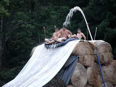 how to make a water slide in your backyard homemade waterslide youtube