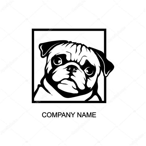 pug logo pug logo stock vector 169 korniakovstock gmail 101580416