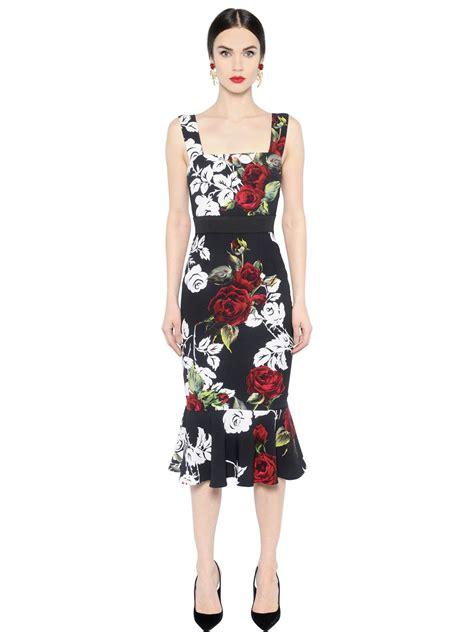Dres Gabbana Dolce lyst dolce gabbana printed cady dress in