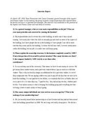 Interview Report Sample Sample Doc Analysis To Professor Scolaro From Joseph