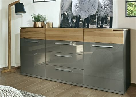 sideboard 2 m breit arte m feel modern solid oak and high gloss white or high