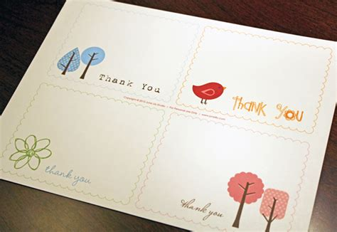 easy thank you card template free printable thank you notes june design