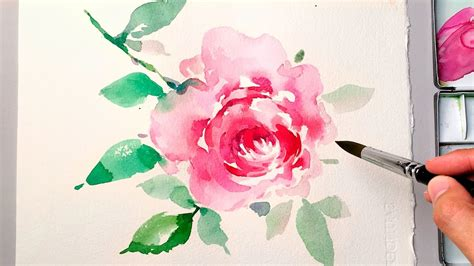 water color flower draw lvl4 watercolor flower painting on