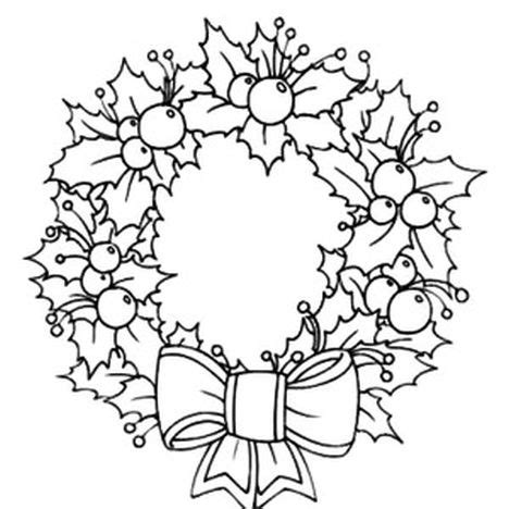 coloring book page wreath christmas wreath coloring pages part 5