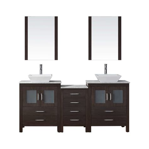 virtu dior 75 quot double bathroom vanity set with mirror