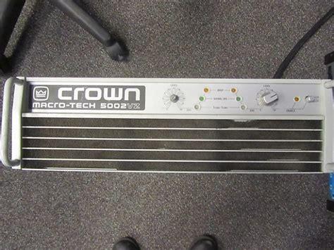 Power Crown Macro Tech 5002 Vz crown ma 5002vz reverb