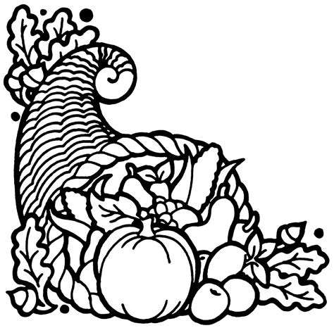 cornucopia basket coloring page cornucopia clip art black and white clipart panda free